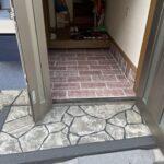 玄関アプローチの施工🏠
